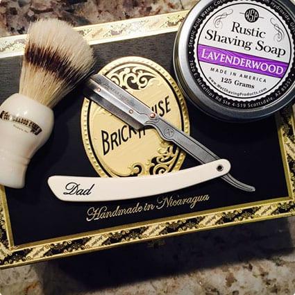 Gift set of 6 Straight Razor