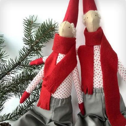 Gnomes Kids gift Tilda Elf Scandinavian Christmas
