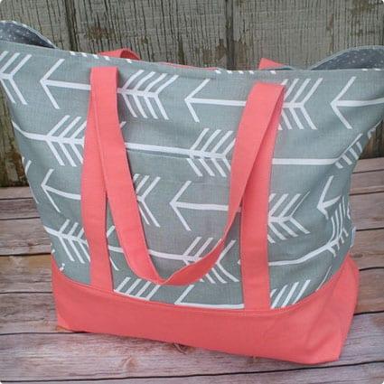 Gray Arrow Shopping Bag