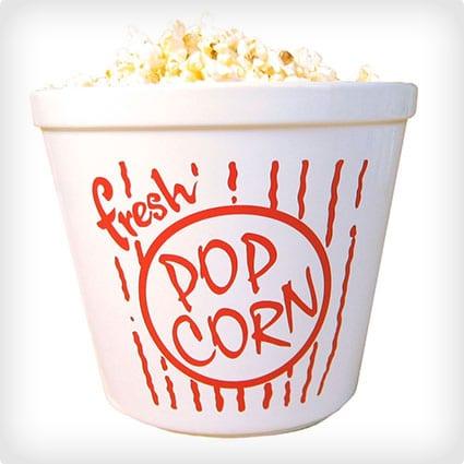 Handbemalte Popcornschale aus Porzellan