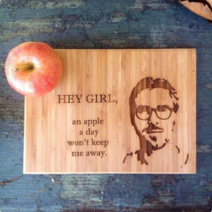 """Hey Girl"" Bamboo Cutting Board"