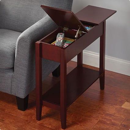 Hidden Storage Side Table