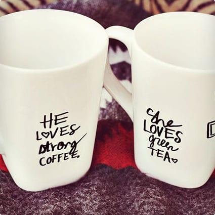 His + Her Sharpie Mugs