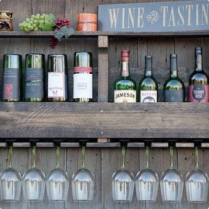 Inverted Wine Rack