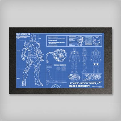 Iron Man Suit Blueprints - 16x24