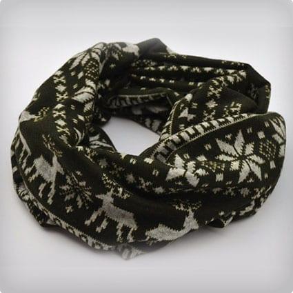 Kidss scarf, Scandinavian print scarf