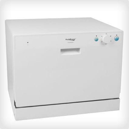 Koldfront 6 Gedeck Aufsatzspülmaschine in Weiß