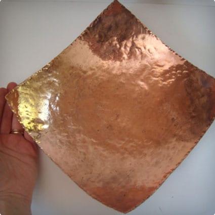 Large Square Copper Bowl