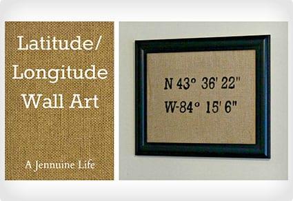 Latitude Longitude Wall Art