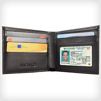 Leather RFID secure wallet