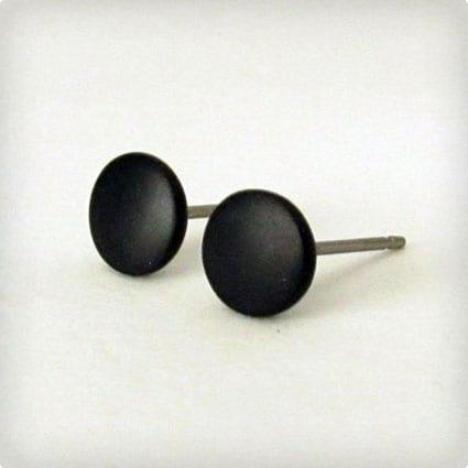 Matte Black Earrings