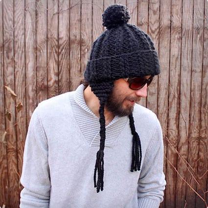 Mens Ear Flap Hat