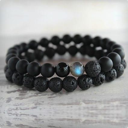 Men's Lava Onyx Bracelet