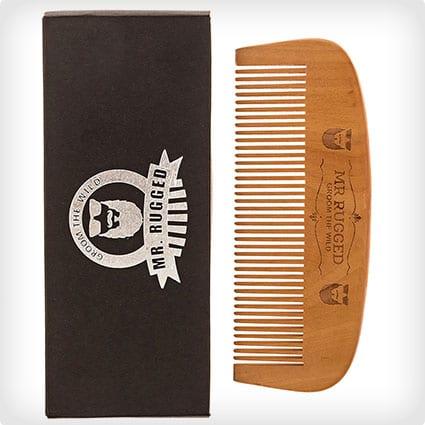 Mr. Rugged Wooden Beard Comb