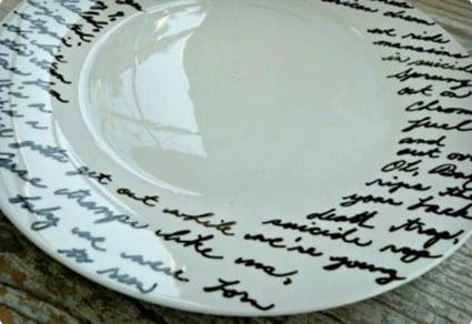 Music Lyric Plate