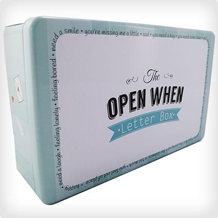 Open When Letter Box