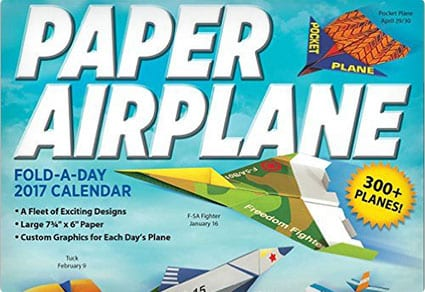 Paper Airplane Fold-a-Day 2017 Calendar