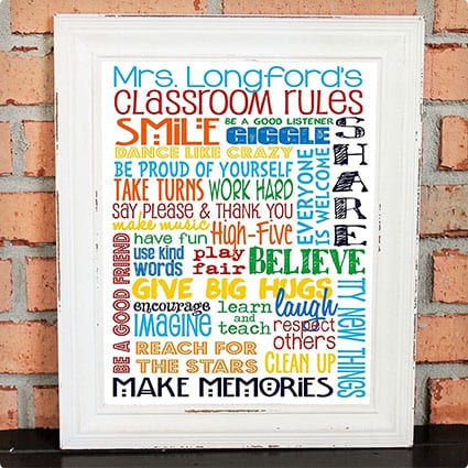 Personalized Classroom Rules