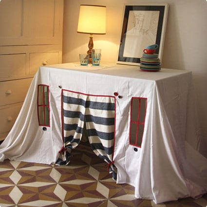Playhouse - tablecloth Striped Spring