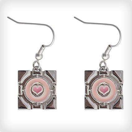 Portal Companion Cube Earrings