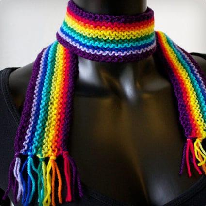 Purple Rainbow Pixie Scarf