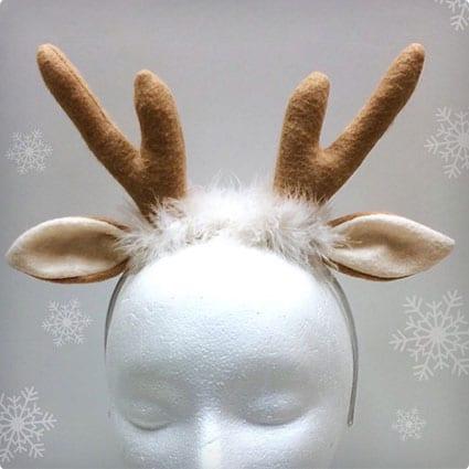 Reindeer Antler Headband, Christmas Costume