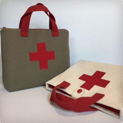Red cross childs doctor bag, doctor kit
