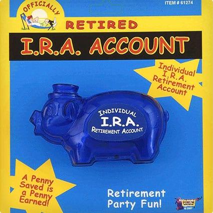 Retirement IRA Piggy Bank