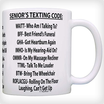 Retirement Text Lingo Mug