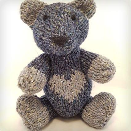 Scott the Hand Knit Teddy Bear