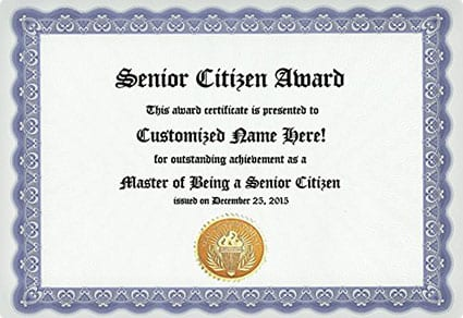 Senior Citizen Award