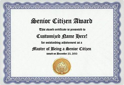 Senior Citizen Award