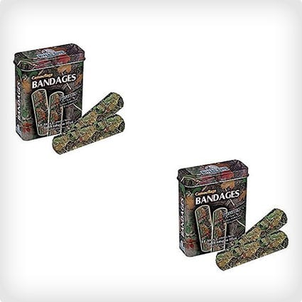 (Set of 2) Green Camouflage First Aid Bandage Tins