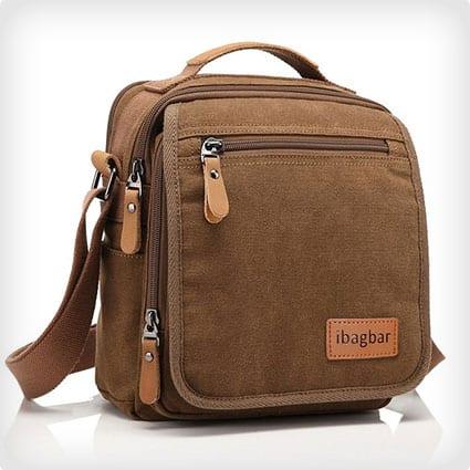 Small Canvas Shoulder Messenger / Work Bag