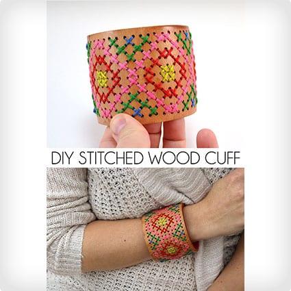 Stitched Wooden Cuff
