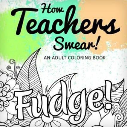 Teacher Swear Words Coloring Book