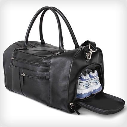 The Genuine Saffiano Leather Gym Bag