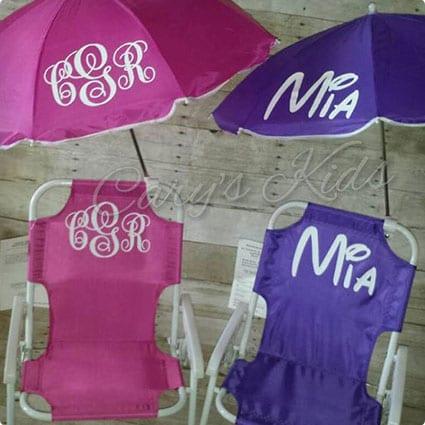 Toddler Kids Children's Beach Chair and Umbrella