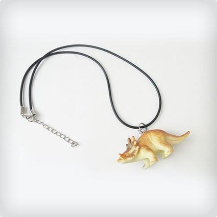 Triceratops, dinosaur boys, girls, kids necklace
