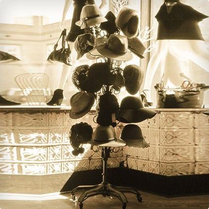 Vintage Hat Rack Photograph - 12x24