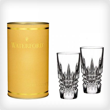 Waterford Crystal Giftology Lismore Diamond Shot Glass Pair