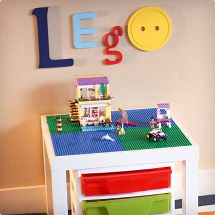 White LEGO Table