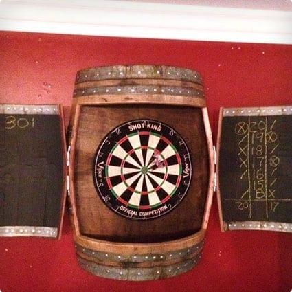 Wine Barrell Dartboard Cabinet