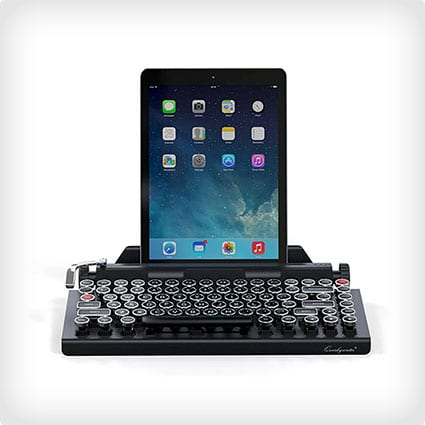Wireless Mechanical Keyboard with Integrated tablet Stand