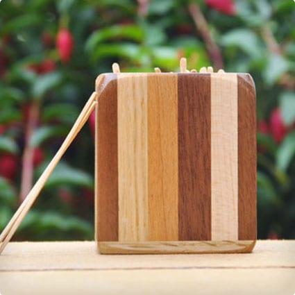 Wood Toothpick Holder