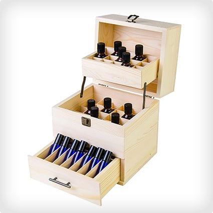 Wooden Oil Box Multi Tray Organizer