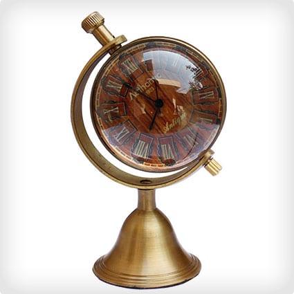 World Globe Desk Clock