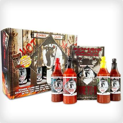 Zombie Cajun Hot Sauce 4-Bottle Gift Set