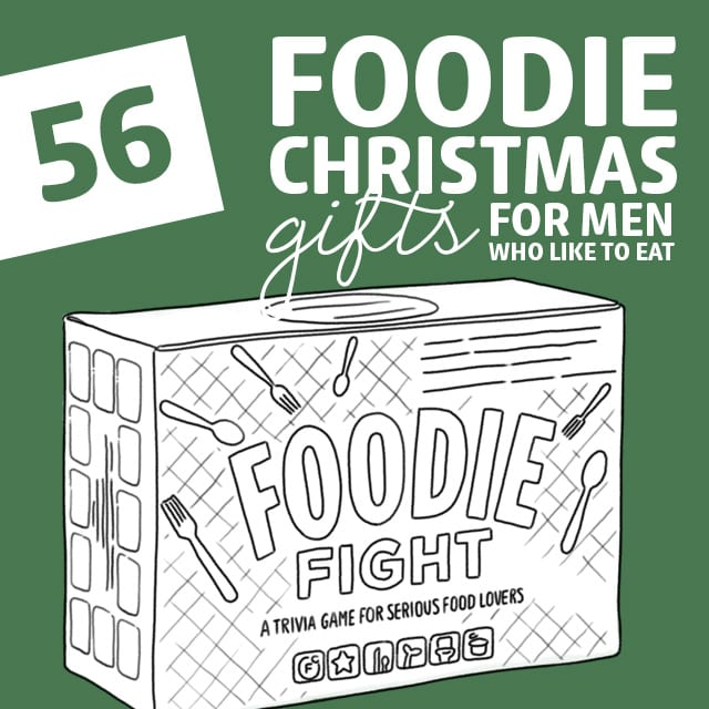 Nom nom nom! He's going to love the foodie gift I got him, thanks to this list of Christmas gifts for guys who like to eat.
