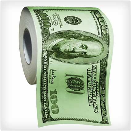 100 Dollar Bill Toilet Paper